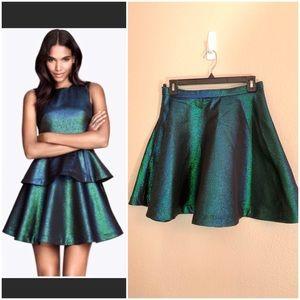 Blue & Green Iridescent Skater Skirt